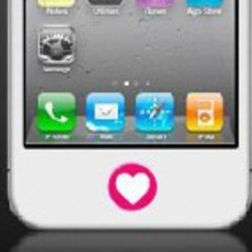 iphone Home Button Personalized Decal Sticker