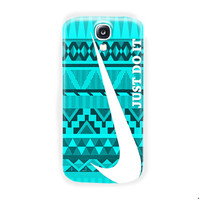 Nike Just Do It Mint Design Art For Samsung Galaxy S4 Case