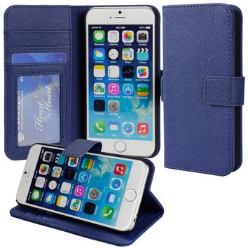 PREMIUM Flip Case for iPhone 6 - Folio Wallet iPhone 6 Cover w/ Stand PU Leather