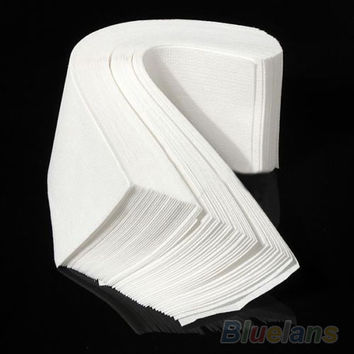 Hot 80  pcs Hair Removal Depilatory paper Nonwoven Epilator Wax Strip Paper Roll Waxing 02KA 2U7W 7CV8 A4UP