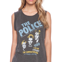 Junk Food The Police Wanderer Tee in Charcoal