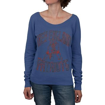 New England Patriots - Logo Off Shoulder Juniors Sweatshirt