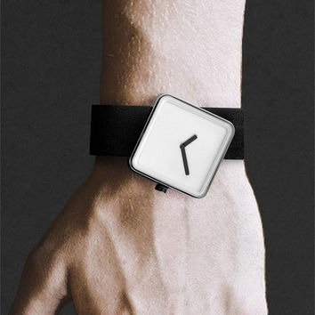 Buy Nonlinear Studio — Slip Watch in Black Leather