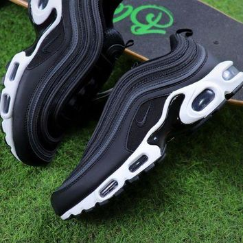 ONETOW Nike Air Max 97 PLUS Black White Retro Sneaker AH8143-001 Sport Shoes