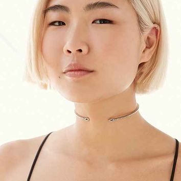 Luv Aj Studded Marquise Choker Necklace