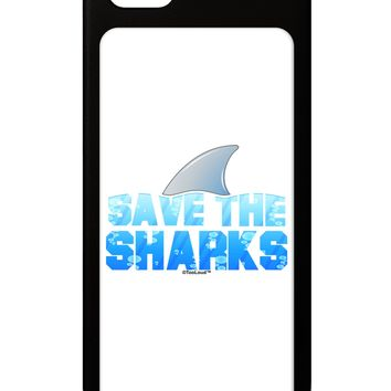 Save The Sharks - Fin Color iPhone 5 / 5S Grip Case  by TooLoud