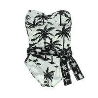 Tommy Bahama Womens Bandeau Printed One-Piece Swimsuit