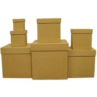 7-Piece Paper Mache Square Box Set | Shop Hobby Lobby