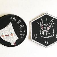 Adventure Time Marceline Inspired Custom Embroidered Iron-on Patches Set