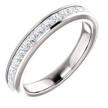 14k White Gold Band For 10x5mm Marquise Ring
