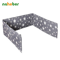 Naheber Bumpers In the Crib For Newborn Cotton Linen Cot Bumper Baby Bed Protector 5 Colors
