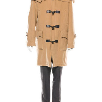 Burberry Wool Toggle Trench Coat