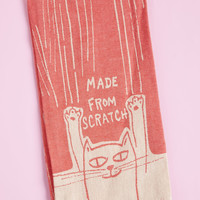 Dinner is Purred Tea Towel