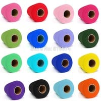 26 colors Hot Sale Decorations C Tulle Roll Spool 6inch x 100yd Wedding Gift Craft Party Tutu Bow Craft Vivid Tulle DIY