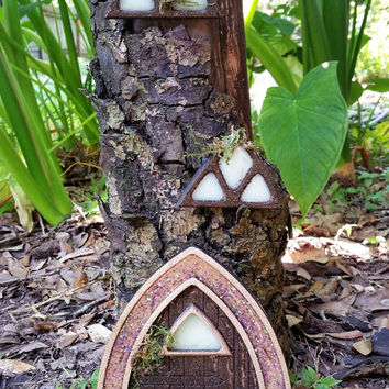 Fairy Window, Gnome Windows, Fairy Garden Accessory, Fairy Garden Kit, Terrarium Kit, Wood Fairy Window, Fairy Tree Window, Garden Window