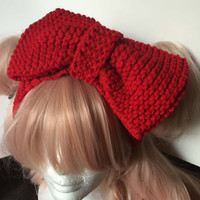 Knit Bow Headband (Assorted Colors)