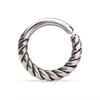 Rope  Nose Ring Silver Septum Ring  Body Jewelry Sterling Silver Boho Jewelry Indian Style 14g 16g - SE032R SSO