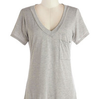 Simply Styled Tee in Heather Grey