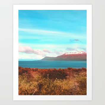 Mountains & Sea Art Print by Viviana Gonzalez