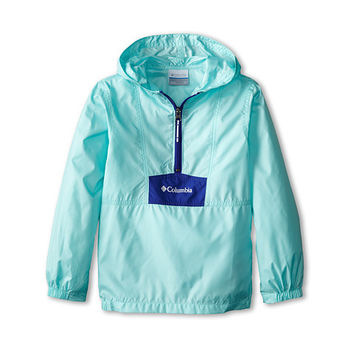 Columbia Kids Flashback™ Windbreaker (Little Kids/Big Kids) Candy Mint/Light Grape/White - Zappos.com Free Shipping BOTH Ways
