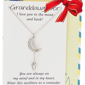 Eloise  Granddaughter Necklace, Greeting Card, 16-inch to 18-inch