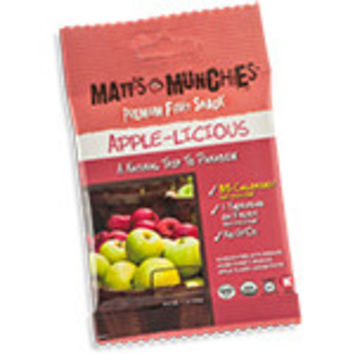 Matt's Munchies Premium Fruit Snacks Organic Apple-Licious 12 (1 oz.) packages per box