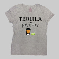 Cinco De Mayo Shirt Tequila T Shirt Funny Drinking TShirt Fiesta Drinko De Mayo Vacation Brunch Tequila Por Favor Mens Ladies Tee - SA1067