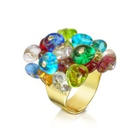Antica Murrina Designer Rings Rubik - Murano Glass Drops Ring