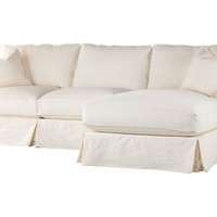 Shabby Chic, Comfy Sectional, Antique White Linen, Sectionals