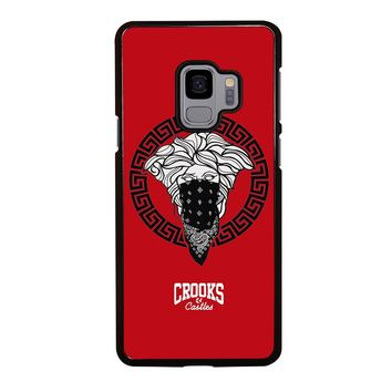 CROOK AND CASTLES BANDANA RED Samsung Galaxy S4 S5 S6 S7 S8 S9 Edge Plus Note 3 4 5 8 Case Cover