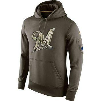 Milwaukee Brewers Nike MLB Salute To Service Pullover Hoodie