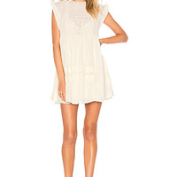 Free People Nobody Like You Embroidered Mini Dress in Ivory | REVOLVE
