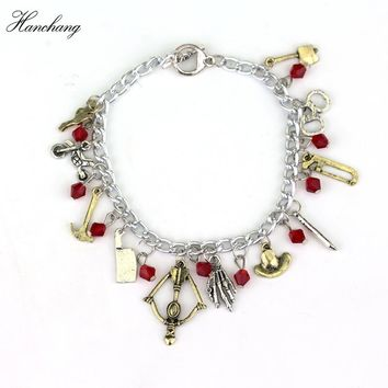 HANCHANG TV Series Jewelry The Walking Dead Charm Bracelet Punk Style Gift For Man Women Bracelet Cosplay Christmas Party Gift