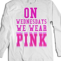 On Wednesdays we wear pink-Unisex White T-Shirt