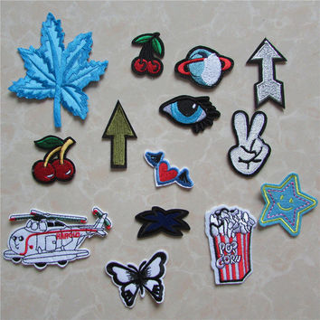 New Arrival fashion patches hot melt adhesive applique embroidery patch DIY clothing accessory patch C5039-C5054