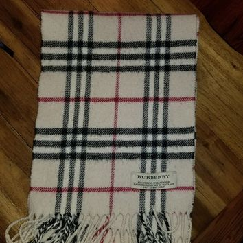 Burberry Scarf Merino and Cashmere Women's Or Girls 46""