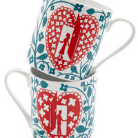 Letter Together Mug Set | Mod Retro Vintage Kitchen | ModCloth.com