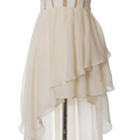 Trendy & Cute Clothing - Ark & Co - Asymmetrical Ivory Tube Dress - chloelovescharlie.com | $86.00