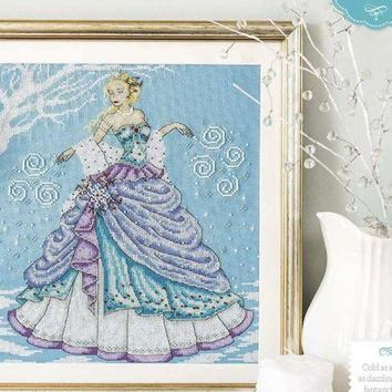 Top Quality Beautiful Lovely Counted Cross Stitch Kit Snow Queen Goddess Fairy Woman Girl Lady Winter