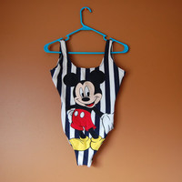 Mickey Mouse 80s/90s Bodysuit Swimwear (S)