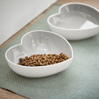 Heart Shaped Pet Bowls, Set of 2