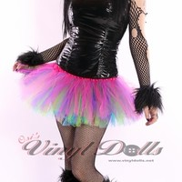 Rave TuTu - UV Multi Colored Rainbow
