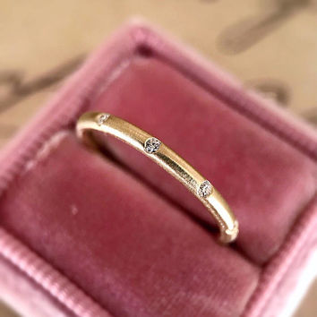 "The ""Lyra"" Scatter Diamond Handmade Eternity Band by CvB"