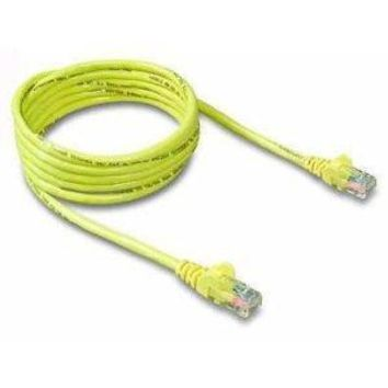 Belkin Components 10ft Cat5e Snagless Patch Cable, Utp, Yellow Pvc Jacket, 24awg, T568b, 50 Micron