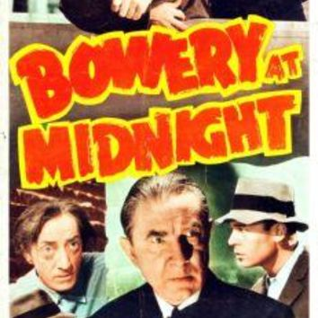 "Bowery At Midnight Poster Movie Poster Insert 14""X36"""