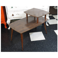 Mid Century End Table Danish Modern 1960s Eames Era