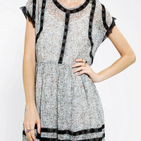 Urban Outfitters - Thistlepearl  Lace-Inset Floral Babydoll Dress