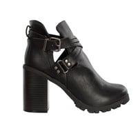 Sasha Cutout Buckled Boots-FINAL SALE
