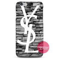 YSL Yves Saint Laurent Pattern iPhone Case 3, 4, 5, 6 Cover