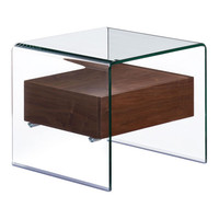 Shaman Side Table Walnut MDF